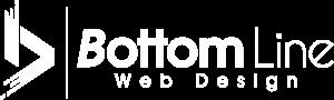 Bottom Line Web Design Vancouver White Logo